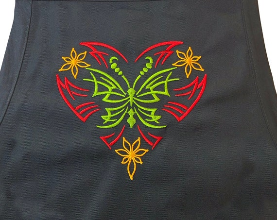 Butterfly - Tribal Design  (Adult Apron) In various colors