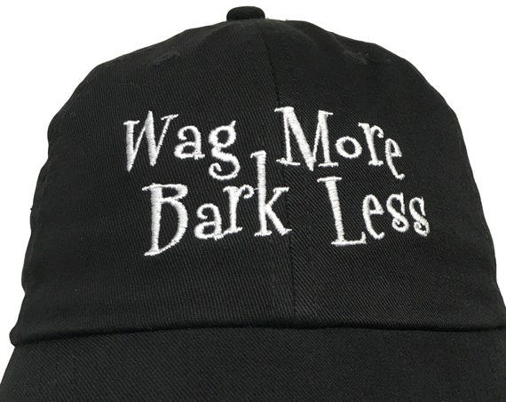 Wag More Bark Less (Polo Style Ball Cap in various colors)