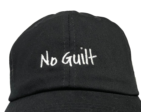 No Guilt - Adult Ball Cap (Various Colors with White Stitching)