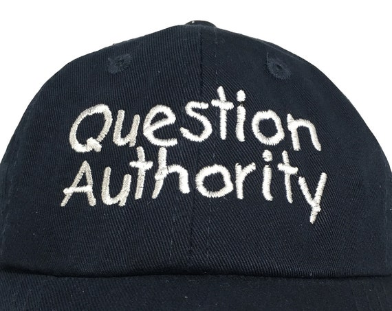 Question Authority  (Polo Style INFANT Ball Cap in various colors)