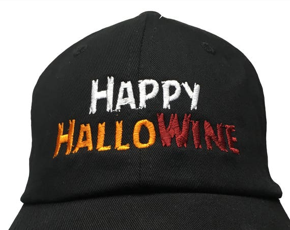 Happy HalloWine (Embroidered Polo Style Ball Cap available in various color combos)