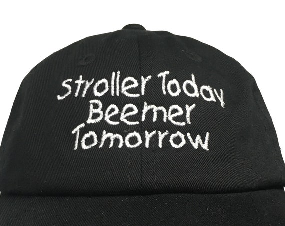 Stroller Today Beemer Tomorrow (Polo Style INFANT Ball Cap in various colors)
