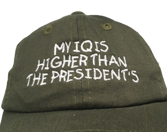 My IQ is higher than the President's (Polo Style INFANT Ball Cap in various colors)