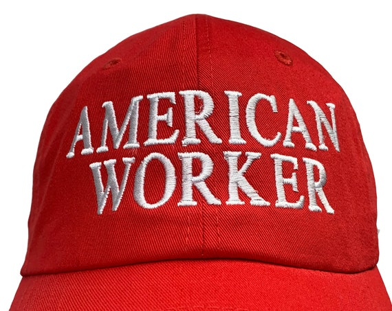 American Worker -  Ball Cap (Various Colors with White Stitching)