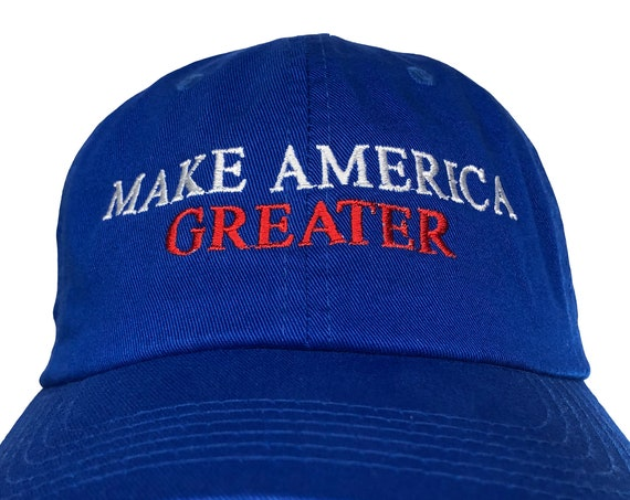Make America Greater -  Ball Cap (Various Colors with White Stitching)