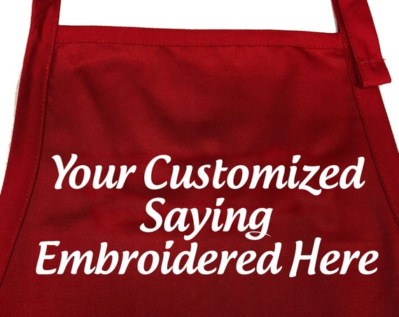 Your Own Customizable Apron in Various Colors (Adult Apron)