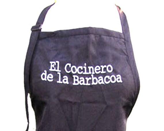 El Cocinero de la Barbacoa (Black Adult Apron)