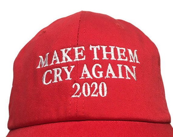 Make The Cry Again 2020 -  Ball Cap (Red with White Stitching)