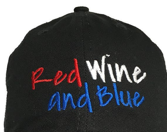 Red Wine and Blue - Polo Style Ball Cap (Black)