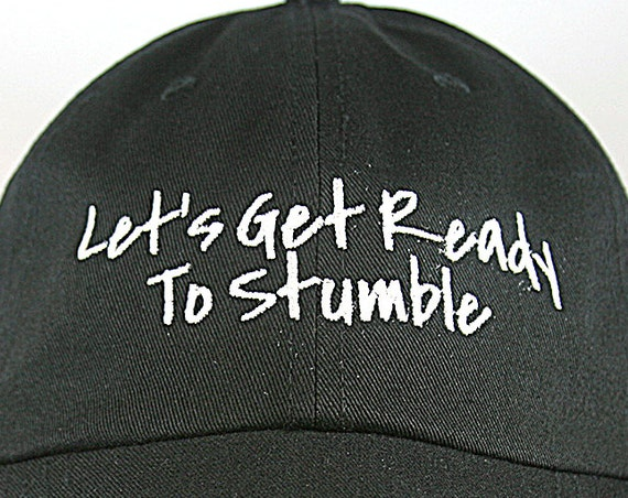 Let's Get Ready to Stumble (Polo Style Ball Black with White Stitching)