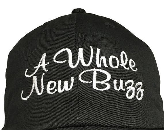 A Whole New Buzz - Polo Style Ball Cap (Black with White Stitching)