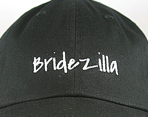 Bridezilla - Ball Cap (Black with White Stitching)