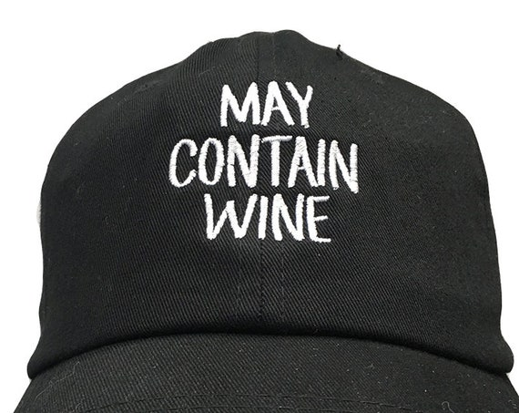 May Contain Wine (Polo Style Ball Various Colors with White Stitching)