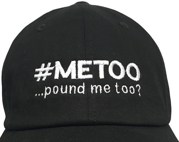METOO Mistake (Polo Style Ball Cap - Black with White Stitching)