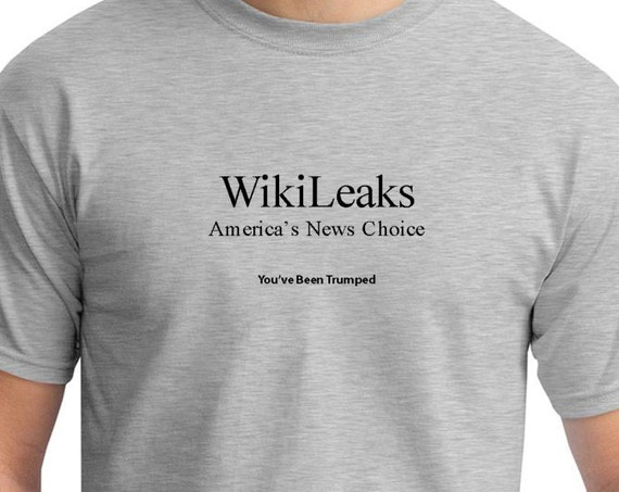 WikiLeaks America's New Choice (You've Been Trumped) Mens Ash Gray T-shirt