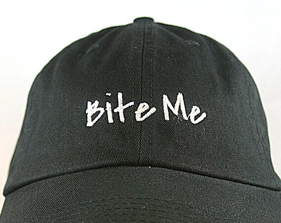 Bite Me (Polo Style Ball Black with White Stitching)