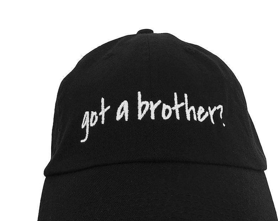 got a brother? - Polo Style Ball Cap (Black with White Stitching)