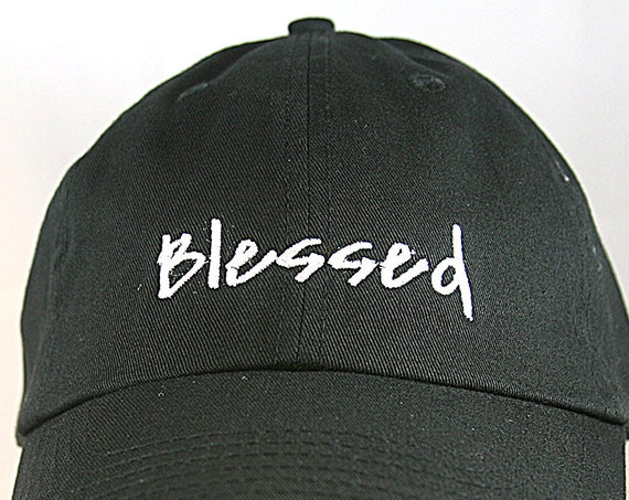 Blessed (Polo Style Ball Black with White Stitching)