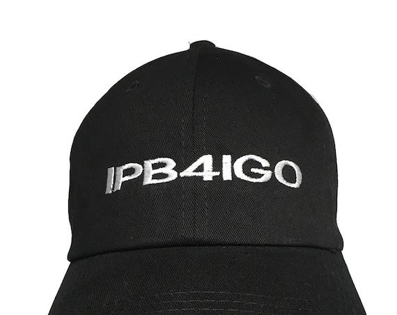 IPB4IGO - License Place Series - Polo Style Ball Cap (Black with White Stitching)