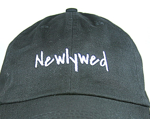 Newlywed - Ball Cap (Black with White Stitching)