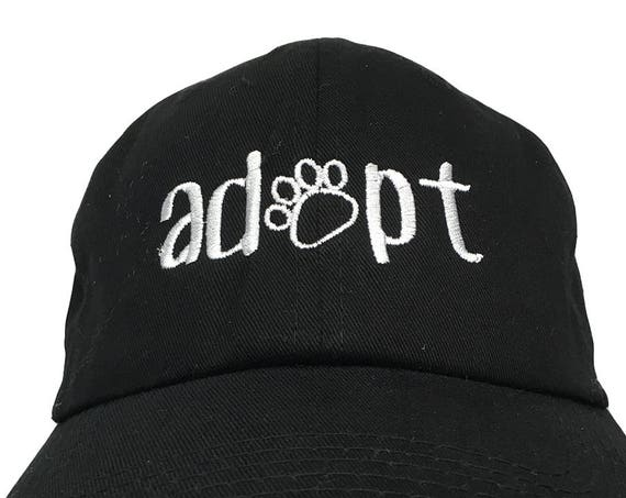 Adopt with Paws (Polo Style Ball Cap in various colors)