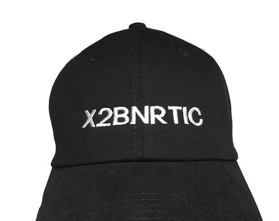 X2BNRTIC - License Place Series - Polo Style Ball Cap (Black with White Stitching)