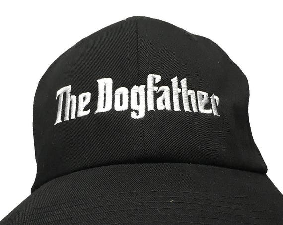 The Dogfather (Polo Style Ball Cap - Black with White Stitching)