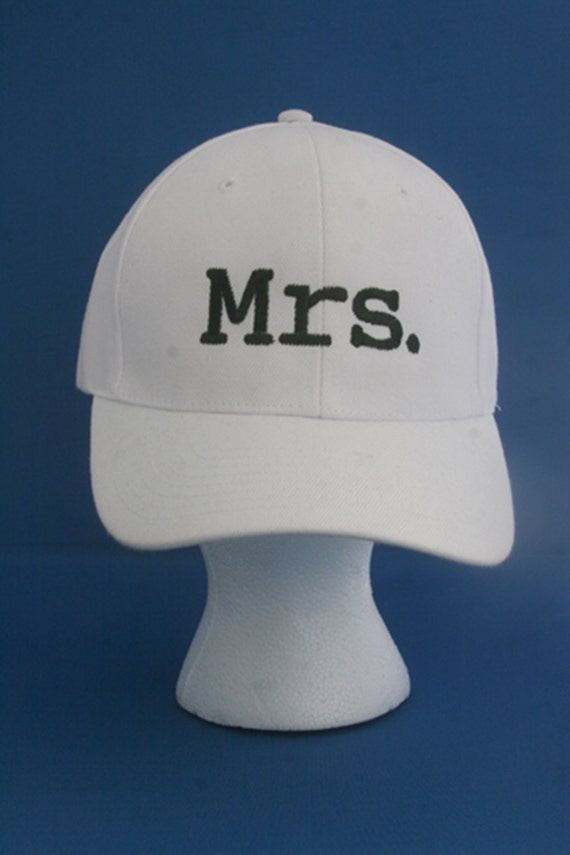 Mrs. for the Bride - Ball Cap (White with Black Stitching)