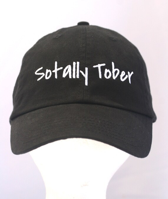 Sotally Tober - Polo Style Ball Cap (Black with White Stitching)