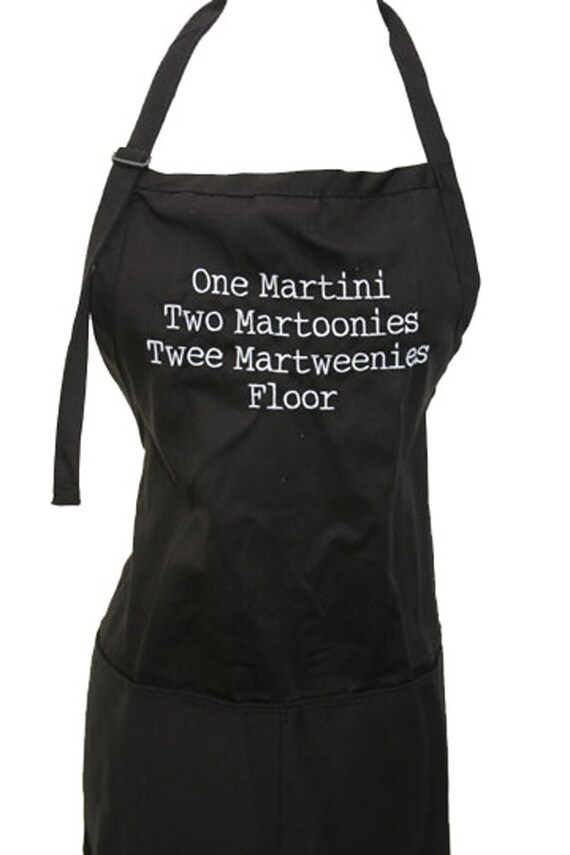 One Martini, Two Martoonies, Twee Martweenies, Floor (Adult Apron)