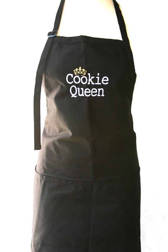 Cookie Queen with Crown (Adult Apron)