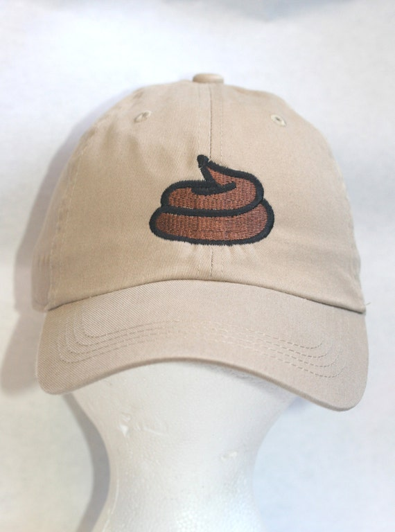 68c8ff6a395 Emoji Poo Head Polo Style Ball Cap available in different