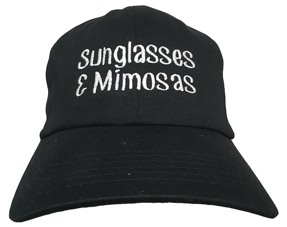Sunglasses & Mimosas (Polo Style Ball Cap - Various Colors with White Stitching)