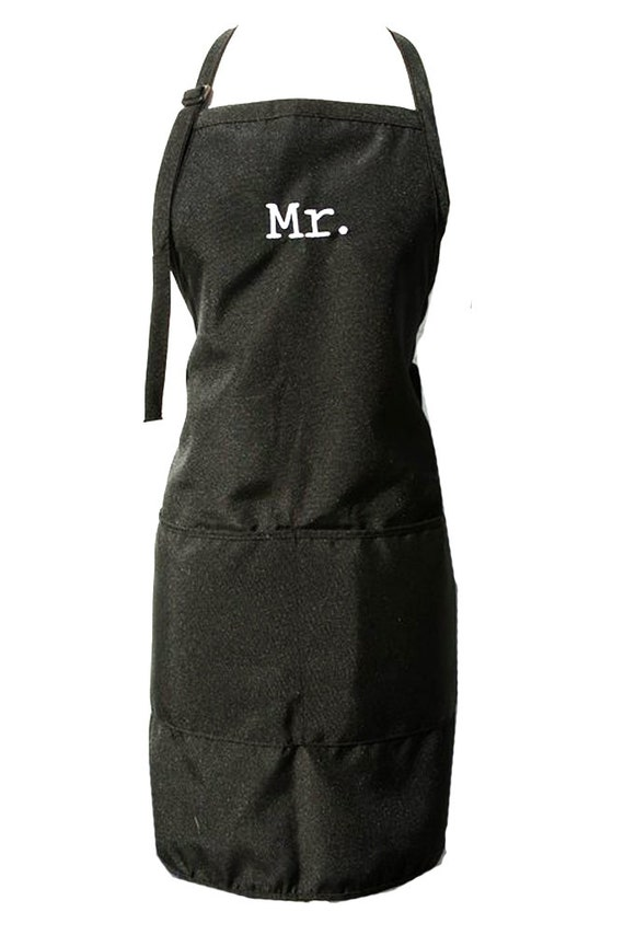 Mr & Mr. (Set of Adult Aprons for a Couple of Guys)