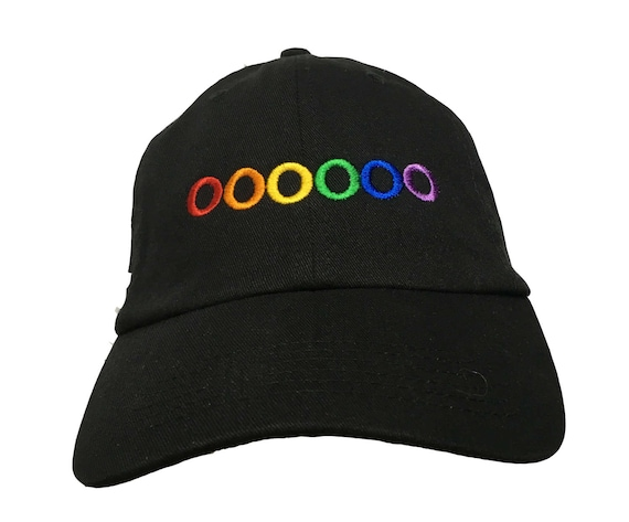 Rainbow Pride Circles  (Polo Style Ball Cap in Various Colors)
