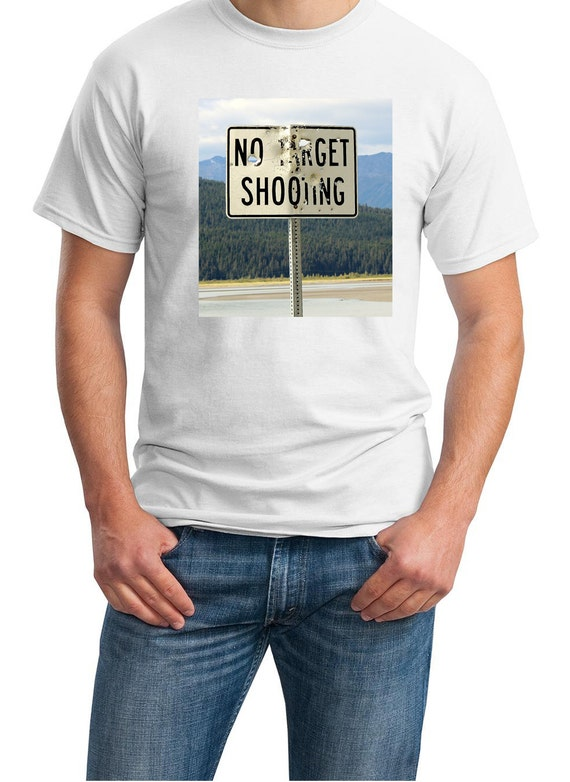 No Target Shooting (Sign in Alaska) Mens White T-shirt