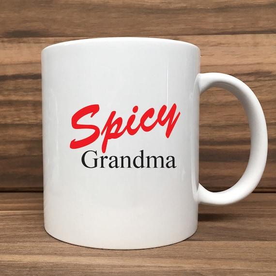 Coffee Mug - Spicy Grandma - Double Sided Printing 11 oz Mug