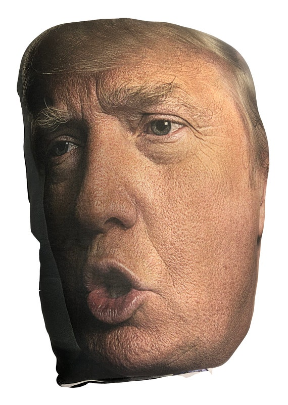 Trump Head Smush Face Pillow - Side Pucker (Squishy, Squeezable, Hugable, Pokable, Just Plain Fun)