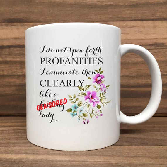 Adults Only - Coffee Mug - Profanity... Lady - Double Sided Printing 11 oz Mug