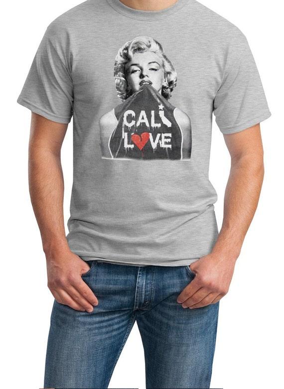 Cali Love Marilyn Mens T-Shirt (Black, Ash Gray or White)