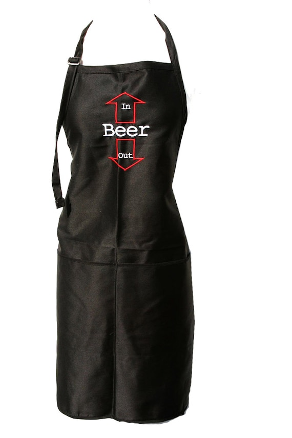 Beer in, Beer Out with arrors. (Adult Apron)