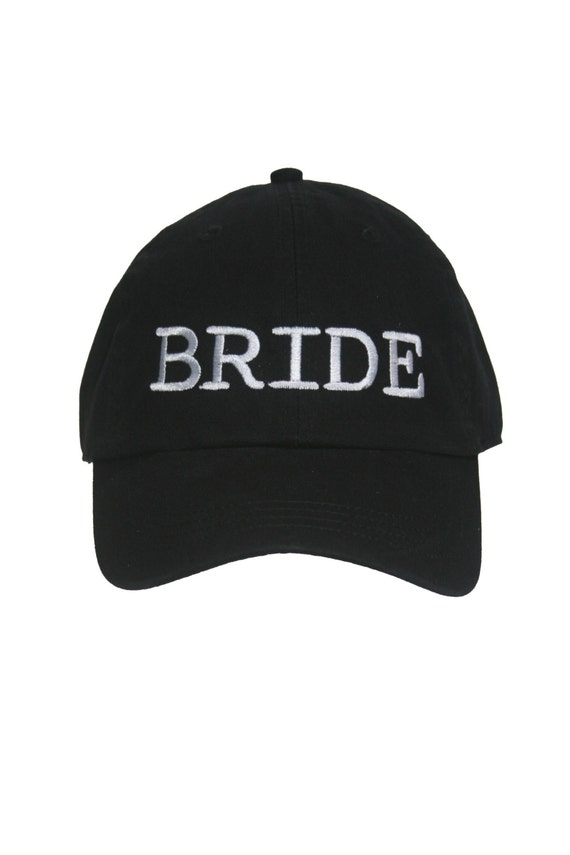 BRIDE - Ball Cap (Black with White Stitching)