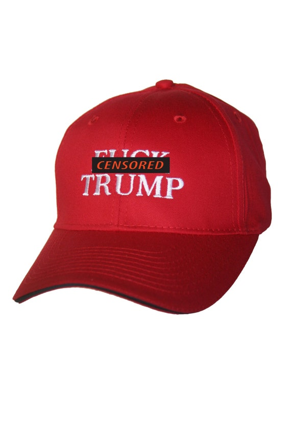 ADULTS ONLY - F#%k Trump - Ball Cap (Available in Various Color Combos)