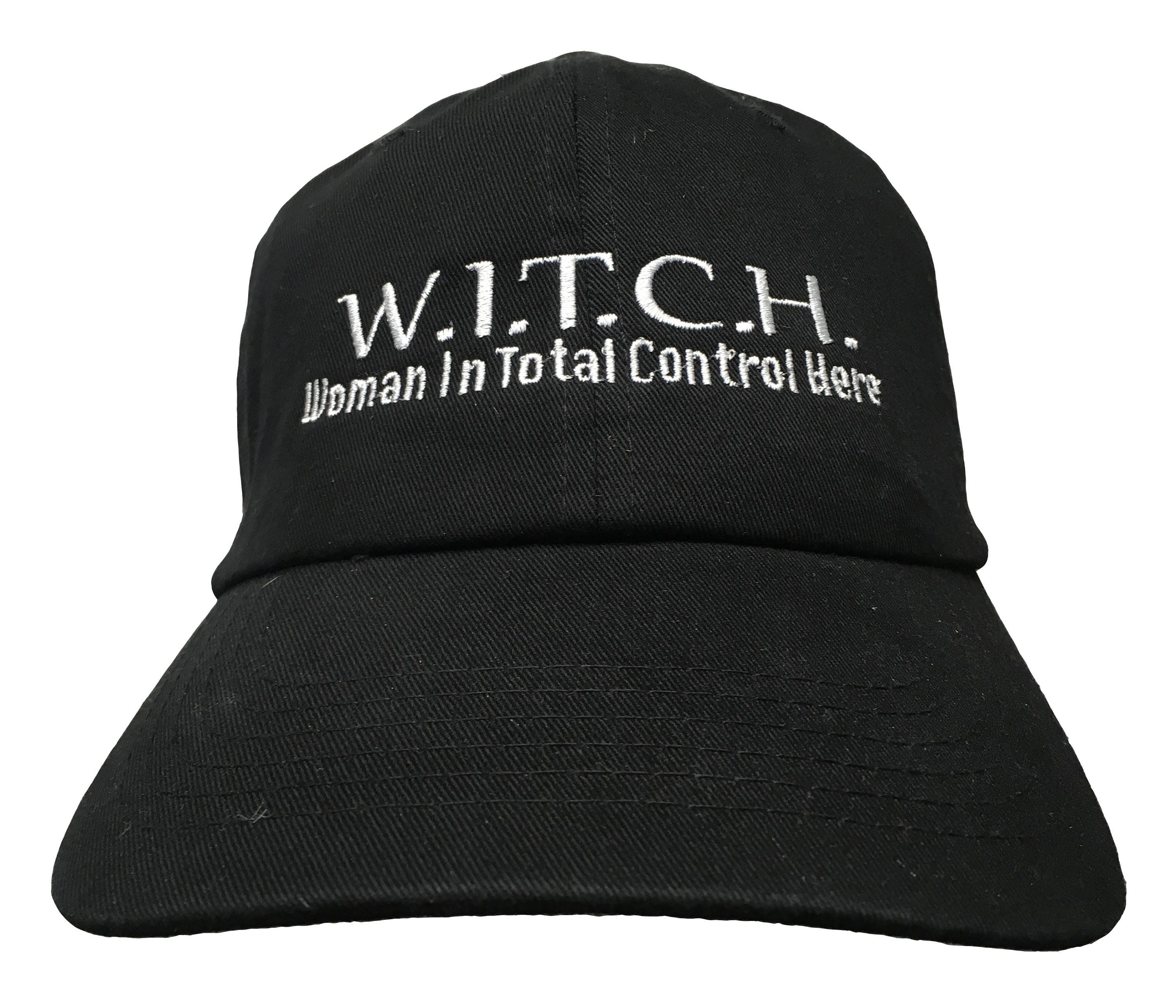 WITCH Woman in Total Control Here Polo Style Ball Cap  45eb0468129