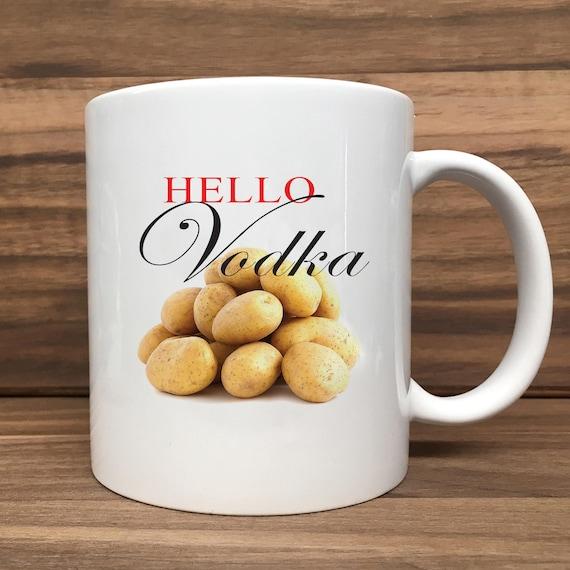 Coffee Mug - Hellow Vodka (with Pile of Potatoes) - Double Sided Printing 11 oz Mug