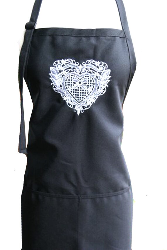 Lace Heart (Adult Apron)
