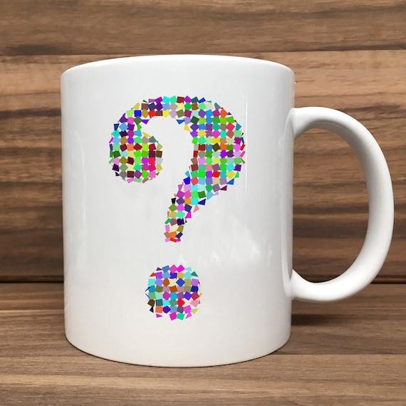 Coffee Mug - Question Mark (Colorful) - Double Sided Printing 11 oz Mug