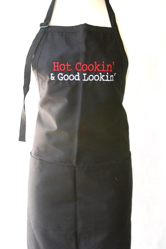 """Hot Cookin' & Good Lookin"""" (Adult Apron)"""