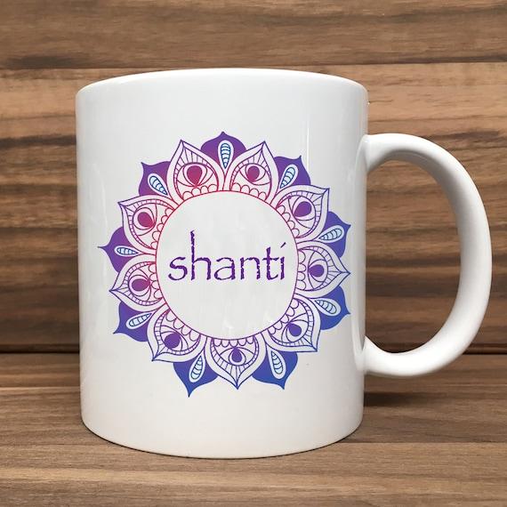 Coffee Mug - Shanti - Double Sided Printing 11 oz Mug
