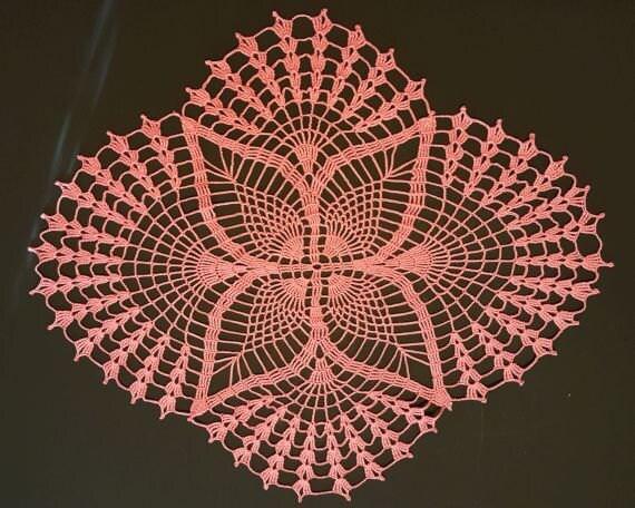 Handgemachte Häkeldeckchen ovales Deckchen ovale Ananas   Etsy